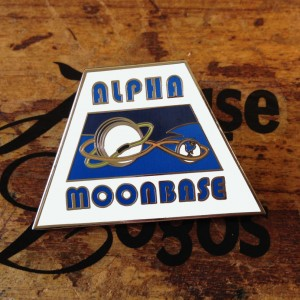 Moonbase Alpha Enamel Badges
