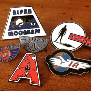 Sci-Fi Enamel Badges