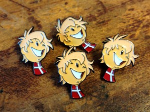 Denmark Grin Enamel Badges
