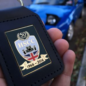 Historic Sports Car Club Leather Keyring