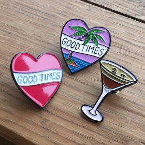 Good Times Tattoo Lapel Pins