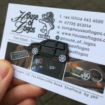 VW Lupo Badge - Black Enamel
