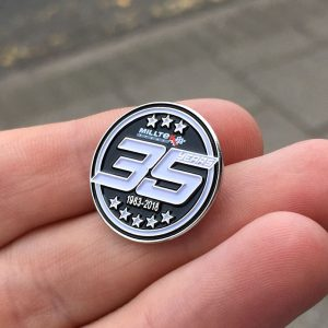 Milltek Sport 35 Years Enamel Badge