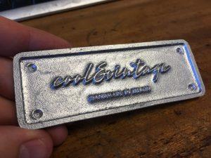 Cool & Vintage Aluminium Vehicle Badges Without Enamel