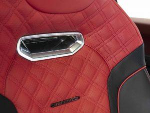 Urban Automotive SVR White Seat Badge Red
